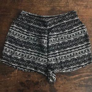 PAC Sun LA Hearts Black and White Shorts